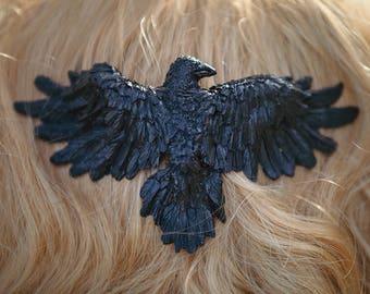 Raven Hair Comb Black