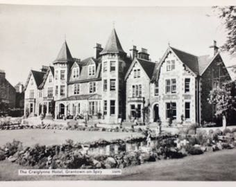 Vintage Real photo postcard of The Craiglynne Hotel at Grantown on Spey, Morayshire , great gift to frame, gift idea, wall art