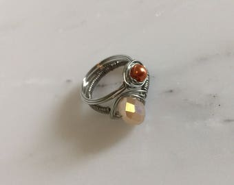 Stackable Wire Wrapped Rings