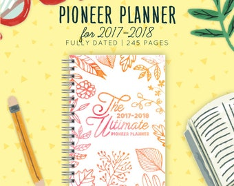 Pioneer Planner 2017-2018 | Ministry Planner 2018 | Theocratic Planner 2018 | JW Gifts | Jehovah's Witnesses | JW | Jw Printables