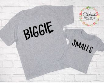 Father And Son Matching Shirts - Father And Son Shirt Set - Biggie And Smalls - Father's Day Gift - Father's Day Gift Set - Father And Son