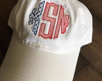 United States Flag Monogram Hat