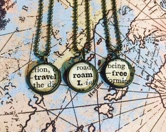 Handmade Dictionary Word Necklace