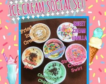 Ice Cream Social Sugar Scrub Set