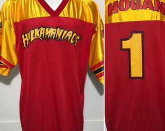 Vintage Hulk Hogan Hulkamaniacs Jersey XL