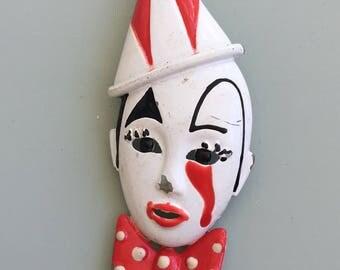 Vintage Mine  Clown Brooch