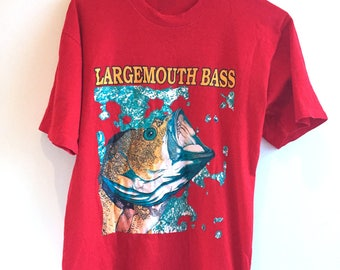 90s Large Mouth Bass Fishing T-Shirt!