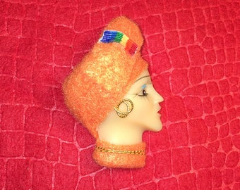 Tangerine Prism,Lady Face Pin