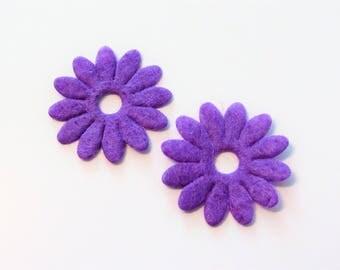 10 flowers embellishment scrapbooking, sewing, fashion 8 25mm felt colors