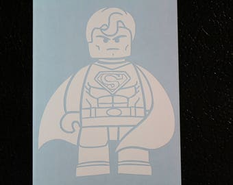 Lego Superman Decal Any Size Any Colors