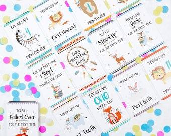 Tribal Baby Milestone Cards