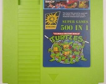 Super Games 500 in 1 Multicart Green Cartridge for Nintendo NES Tons of Classic Retro Games