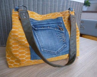 Bag pockets mustard yellow velvet jeans