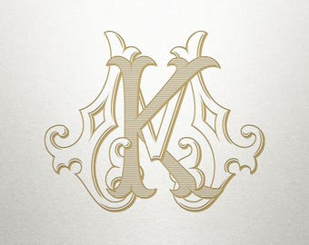 Premade Logo Monogram - KM MK - Premade Logo - Digital