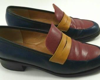 Tricolor loafers vintage