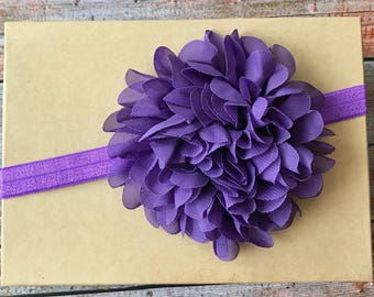 Baby Headband/Purple Baby Headband/Newborn Headband/Baby Headband/Infant Headband/Baby Girl Headband/Toddler Headband/Purple Headband/Baby