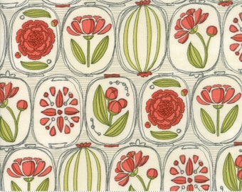 Natural Floral Cameos from the Blushing Peonies collection by Robin Pickens for Moda Fabrics, Choose the Cut, 48611 11, Peony