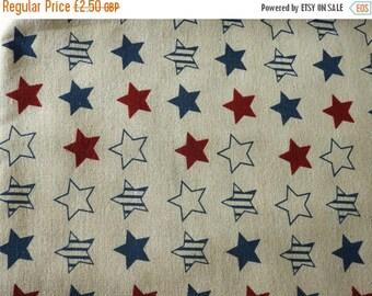 Stars cotton canvas linen - 150 cm wide