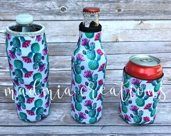 Cactus Blooms Koolie {can, bottle, water bottle}