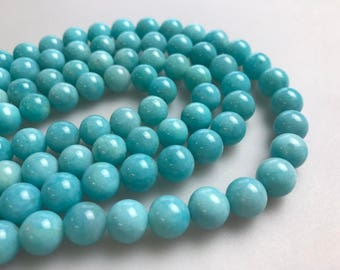 "Quality AAA Natural Green Amazonite Gemstone Round  Loose Beads 6mm/8mm/10mm/12mm Wholesale 15.5"" Long Per Strand.R-S-AMA-0079"