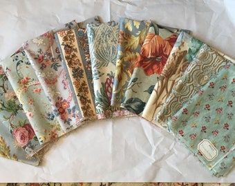 Beautiful Curated Collection of Late 19th / 20th C.French Printed Fabrics (2179)