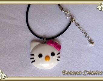Necklace children head kitten kitty 202003