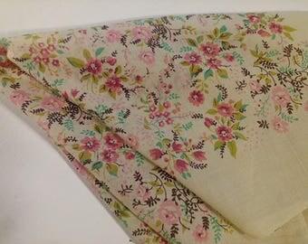 Mid Century Floral Bandana Modern Cotton Kerchief or Scarf