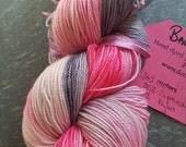 Hand dyed BFL sock yarn  100g. Balmaiden