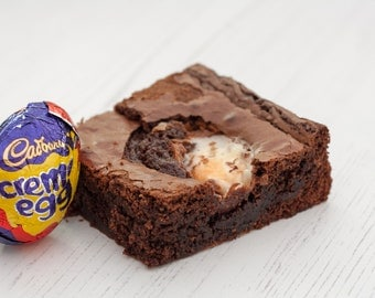 5 Creme Egg Chocolate Brownies | Chocolate Brownies | Creme Egg | Easter |