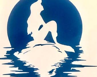 Disney's The Little Mermaid Silouhette decal (Ariel) (movie poster)