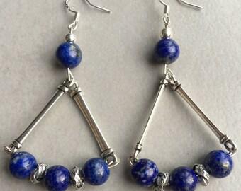 Natural lapis lazuli earrings