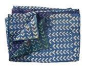 Vintage Indigo Kantha Quilt Reversible  Sari Kantha Quilt Indigo Throw Bed Spread