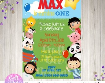 Little Baby Bum Inspired Digital Party Invitation