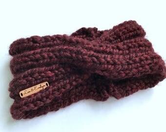Twisted Headband • Turban Earmwarmer • Knit Headband • Womans Winter Headband • Twisted Turban Ear Warmer