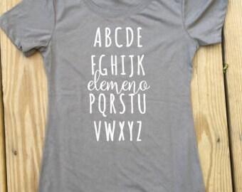Preschool Teacher Shirt Gift, Kindergarten Teacher Shirt Gift, Teacher shirt, Teacher gift, ABC Shirt