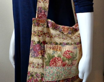 Reversible Bag With Pockets Inside and Out Either Way