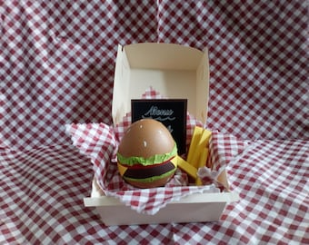 pregnancy announcement surprise egg burger original