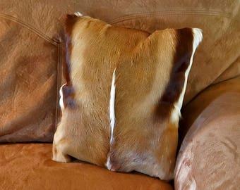 African Springbok Antelope Hair on Hide Pillows/Cowboy Decor
