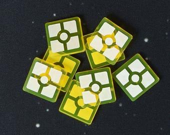 Star Wars Destiny Resources Acrylic Token Set