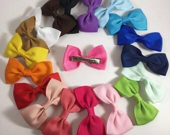 """Sale!!!Lot of 19 Hair bows, 2.75"""" hair bows, girl hair bow, baby hair bows, hair accessories, grosgrain ribbon clips"""