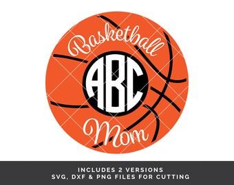 2 Basketball Monogram SVG - Basketball Mom svg - Monogram Frame svg - Basketball Mom Shirt svg - Sports Monogram svg - Basketball svg