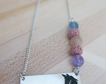Diffuser Necklace   Kids Necklace   Aromatherapy   Essential Oil   Unicorn Necklace   Kids Beaded Diffuser Necklace   Handmade   Therapy