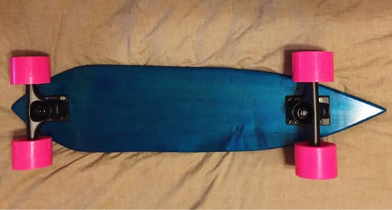 Blue Maple Wood Cruiser Skateboard / Penny Board / Pintail