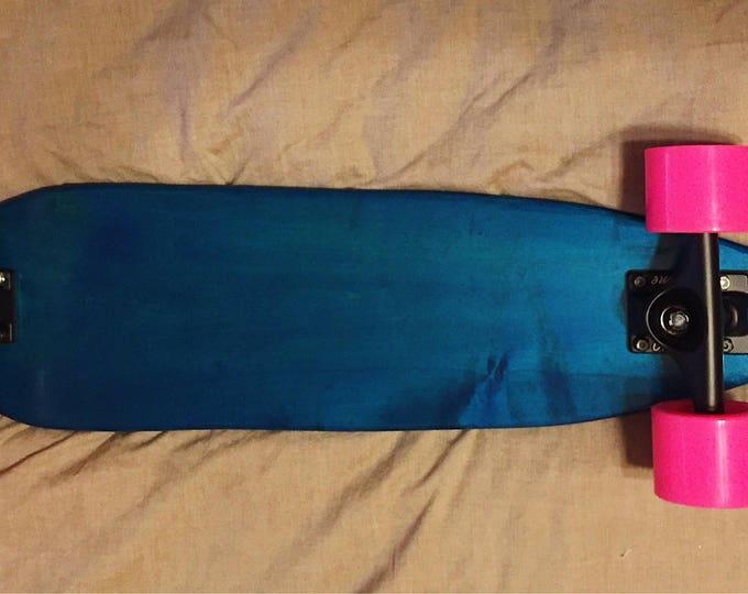 Blue Maple Wood Cruiser Skateboard / Penny Board / Pintail
