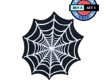 Spider Web Embroidered Iron On Patch Heat Seal Applique Sew On Patches