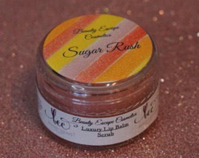 Luxury Lip Balm Scrub - Sugar Rush (vanilla berry candy)
