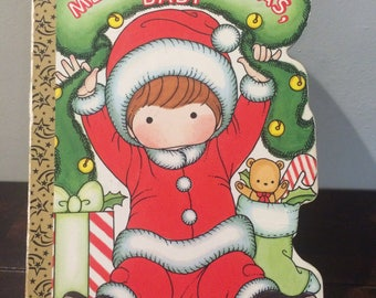 Merry Christmas Baby Joan Walsh Anglund Vintage Golden Board Book 1996
