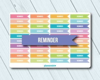 Reminder Planner Stickers - Side Flag Headers - Erin Condren Life Planner - Happy Planner - Don't Forget - Important - Matte or Glossy