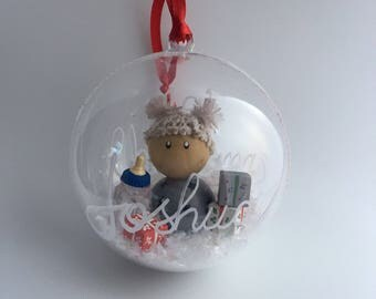 Baby's First Christmas Globe Ornament