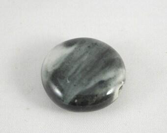 Ceramic punt bead 24 mm : gray